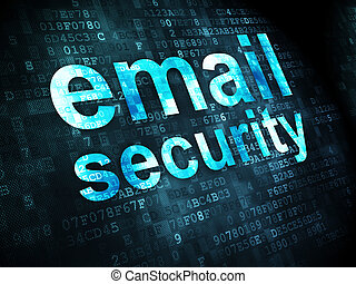 Protection concept: Email Security on digital background -...