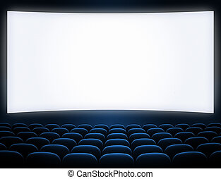 cinema screen blue seats