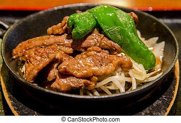 Lamb grill in Genghis khan menu1
