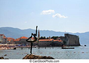 Dancing Girl Statue. Budva, Montenegro.