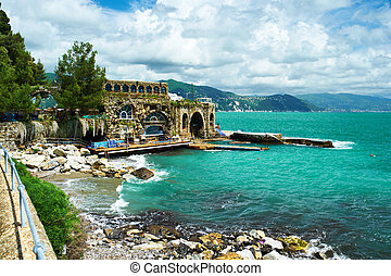 Ligurian coast at north of Italy