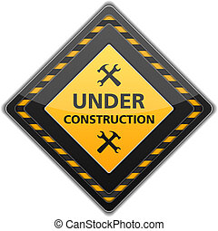 Under Construction Sign - Under construction sign with icon...