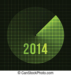New Year Background. Sonar, 2014. Card template for text. Vector Illustration
