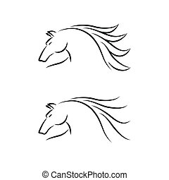 Horse Emblem Set Vector