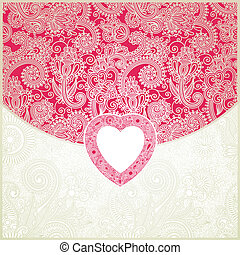 Valentine ornamental pattern - vector ornate valentine...