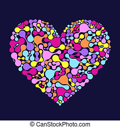 abstract colorful heart