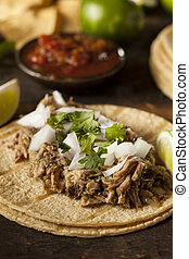 Traditional Pork Tacos with Onion, Cilantro, and Lime