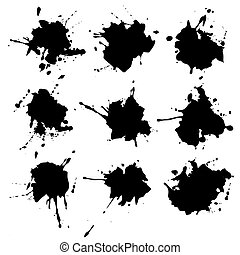 ink blots. paint stains