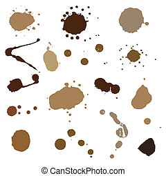 coffee blots. paint stains