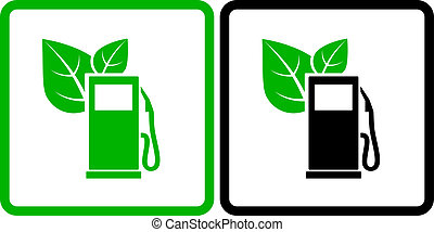 two green gas station icons