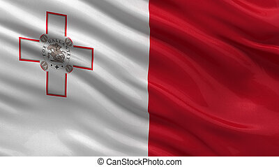 Flag of Malta waving in the wind