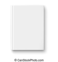 Blank book template with soft shadows. - Blank book cover...