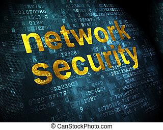 Protection concept: Network Security on digital background -...