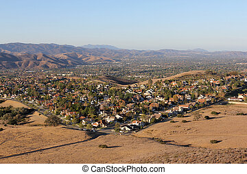 Simi Valley California - Simi Valley suburbia in scenic...