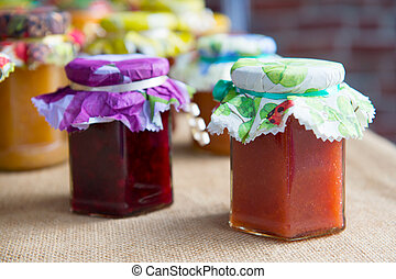 Different tastes home made jam