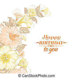 Color garland of flowers Vector illustration