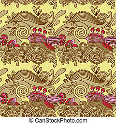 seamless pattern with fish and wive