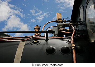 Steam locomotive close-up