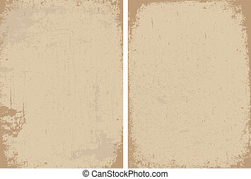 Vector Clipart Distressed Paper Texture Set - Easy to edit...