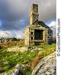 Ruin on Bodmin Moor - A ruined building at Carbilly Quarry...