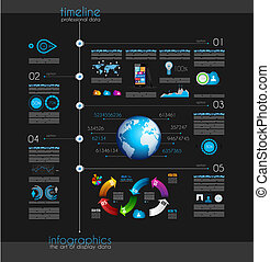 Timeline to display your data with Infographic element