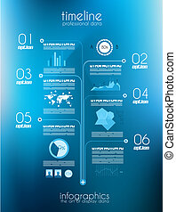 Timeline to display your data with Infographic elements -...