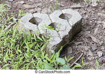Heart stone love concept in garden