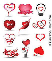Heart set collection - Heart for valentine' day / Wedding /...