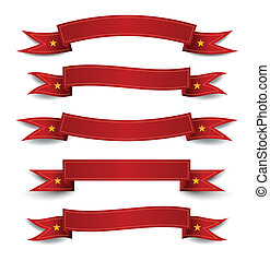 Red banner ribbon - for promotions