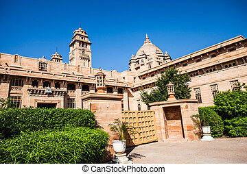 A view of the Palace in Jodhpur, Rajasthan, India.