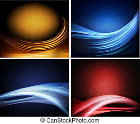 Set of business elegant colorful abstract backgrounds....