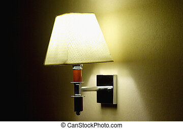 alcoholics lamp with yellow light