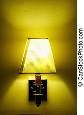 alcoholics lamp with yellow light.