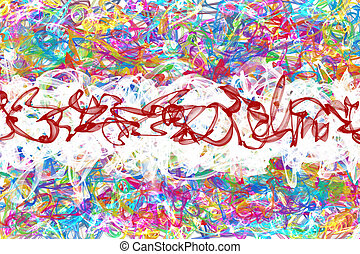 abstract graffiti - abstract colorful graffiti