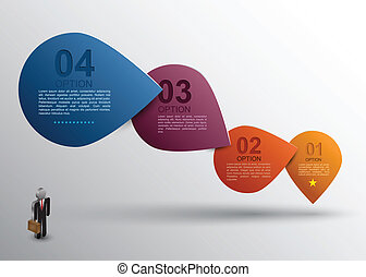 Step banner options - Vector business concepts with icons /...