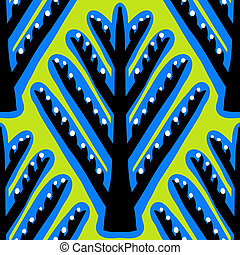 Ikat, vector ethnic pattern with Kazakh motifs - Ikat,...