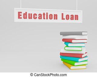 education loan - 3d education loan
