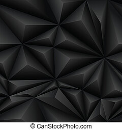 Black Abstract Polygon Background Tile - Black abstract...
