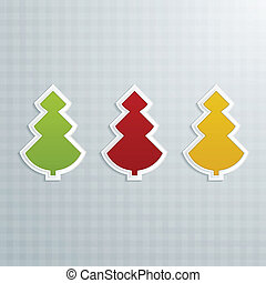Colored Fir-Trees. Set of Three