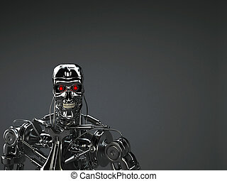 robot background - robot terminator background