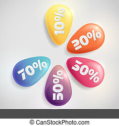 Sale Buttons With Discount.