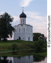 Church of the Intercession on the River Nerl. Inscribed in the Wold Heritage List of UNESCO.