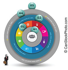 Circle template Continual - Vector business concepts with...