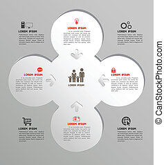 Circle group template with icons - Vector business concepts...