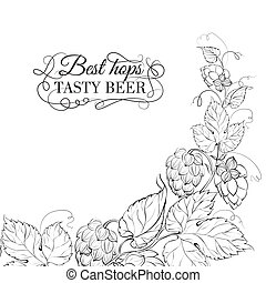 Decorative hops cover - Decorative hops cover design Vector...