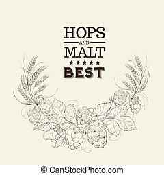 Decorative hops cover. - Decorative hops cover design....