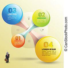 Sphere with icons - Vector business concepts with icons can...