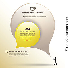 Drop bubble with icons - Vector business concepts with icons...