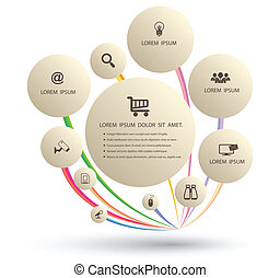 Circle with icons - Vector business concepts with icons can...
