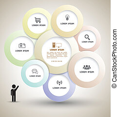 Circle group with icons - Vector business concepts with...
